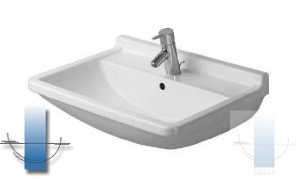 starck iii izlietne 60x45 cm. Black Bedroom Furniture Sets. Home Design Ideas